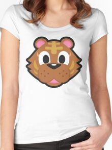 BANGLE ANIMAL CROSSING Women's Fitted Scoop T-Shirt