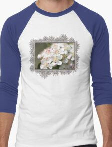 Aronia Blossoms Men's Baseball ¾ T-Shirt