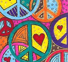 Peace & Love by Rosie Brown