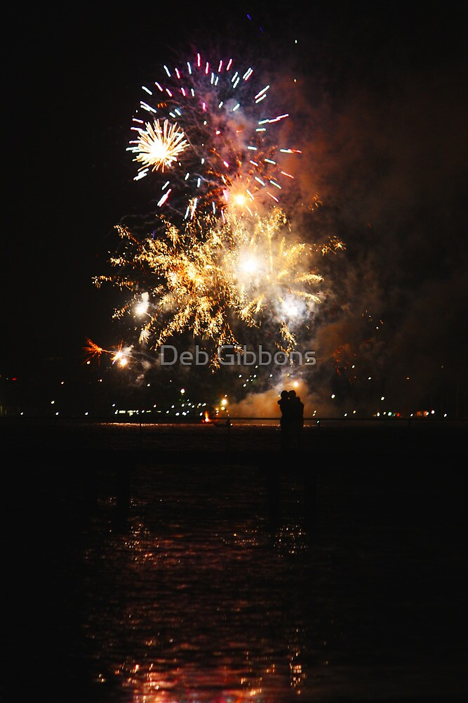 Romance at the fireworks - Geelong 22/1/2011 by Deb Gibbons