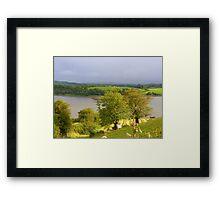 Evening Sun On The Hayfield.................Ireland Framed Print