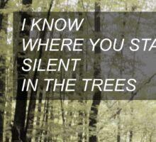 Twenty One Pilots 'Trees' Lyrics Sticker