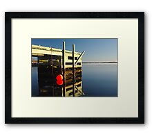 Calm morning at the jetty Framed Print