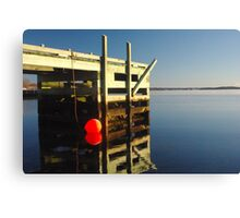 Calm morning at the jetty Canvas Print