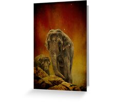Escape from the Edge. Greeting Card