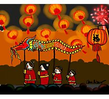 Fireworks and Paper Dragons Photographic Print
