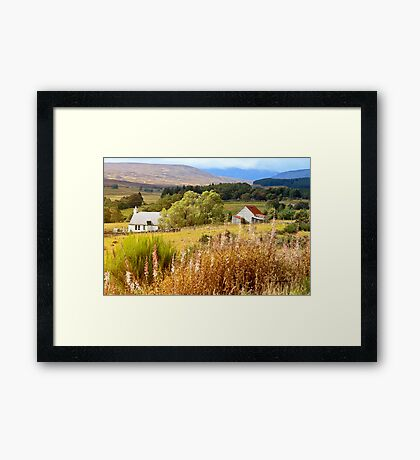 On the A9 Road Going to Dalwhinnie, Highlands, Scotland Framed Print