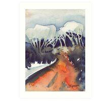 Amber Trail Art Print