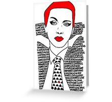 Annie Lennox No More I Love Yous Greeting Card