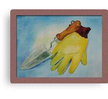 Garden Gloves Canvas Print