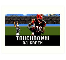 Tecmo Bowl AJ Green Art Print