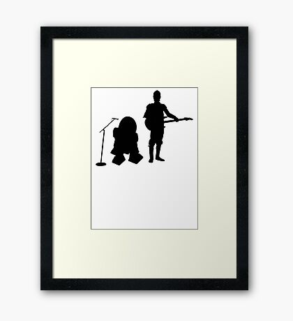 R2D2 C3PO Rock Band Framed Print