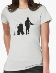 R2D2 C3PO Rock Band Womens Fitted T-Shirt