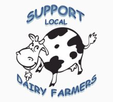 Support Local Dairy Farmers One Piece - Long Sleeve