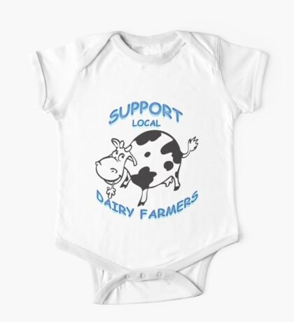 Support Local Dairy Farmers One Piece - Short Sleeve