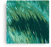 Tide Curling In All Shades of Green Margaret Juul Canvas Print
