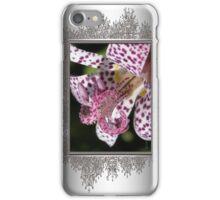 Tricyrtis Formosana named Empress iPhone Case/Skin