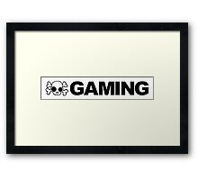 Skull Gaming Framed Print