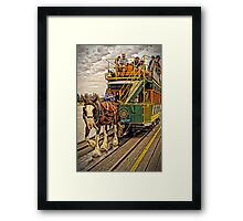 The Horses Are On The Track Framed Print