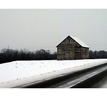 Snow Barn Photographic Print