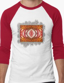 Fire And Ice Abstract Men's Baseball ¾ T-Shirt