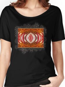 Fire And Ice Abstract Women's Relaxed Fit T-Shirt