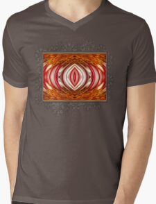 Fire And Ice Abstract Mens V-Neck T-Shirt