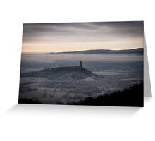 Misty View over Wallace Monument and Stirling  Greeting Card