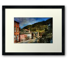 High Street In The Early Evening Framed Print