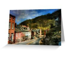 High Street In The Early Evening Greeting Card