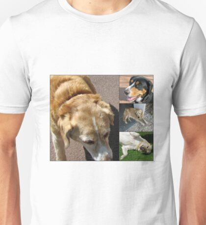 Friendly Canines Collage Unisex T-Shirt