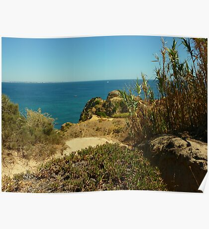 View from Lagos Cliffs. Poster