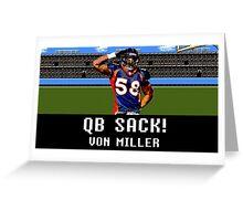 Tecmo Bowl Von Miller Greeting Card
