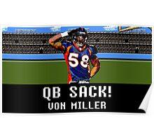 Tecmo Bowl Von Miller Poster