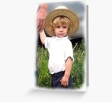 Blond Amish Innocence Greeting Card