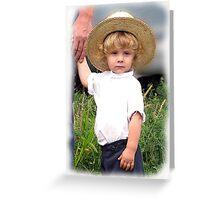 Blond Amish Innocence Greeting Card