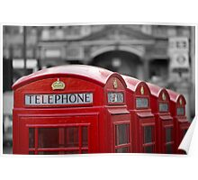 London Red - Four phones Poster