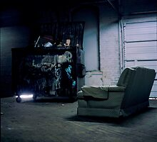 seat by the dumpster by iannarinoimages