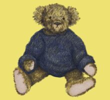 Brown Teddy Bear with Blue Jumper Kids Clothes