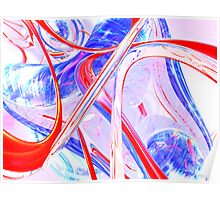 Dynamic Satin Abstract Poster