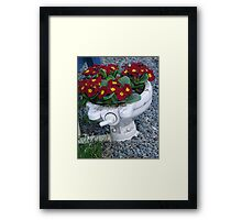 Potty Planter Framed Print