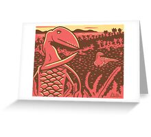 Dimorphodon and Scelidosaurus Greeting Card