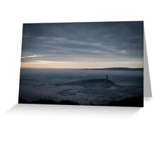 High up on the Ochil Overlooking Wallace Monument Greeting Card