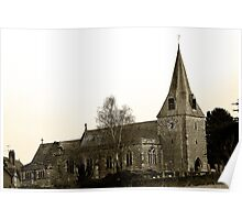 St Mary's Church, East Farleigh Poster