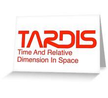 NASA Worm Logo TARDIS Greeting Card