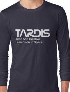 NASA Worm Logo TARDIS (White) Long Sleeve T-Shirt