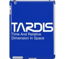 NASA Worm Logo TARDIS (White) iPad Case/Skin