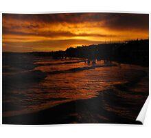 Sunset in Las Grutas Poster