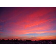snowy sunset Photographic Print