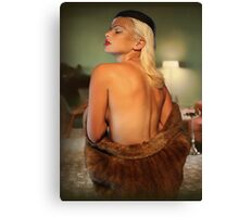 Real Mink Canvas Print